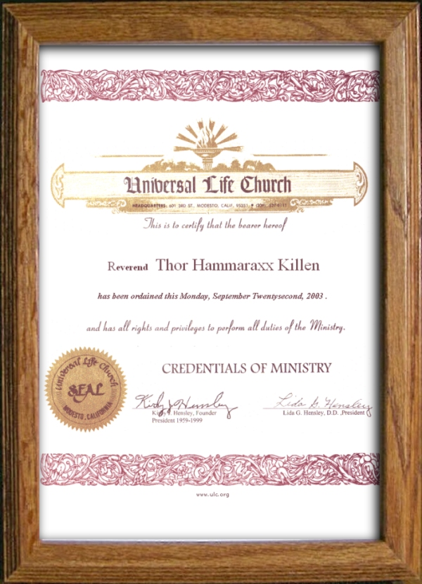 how to become a universal life minister